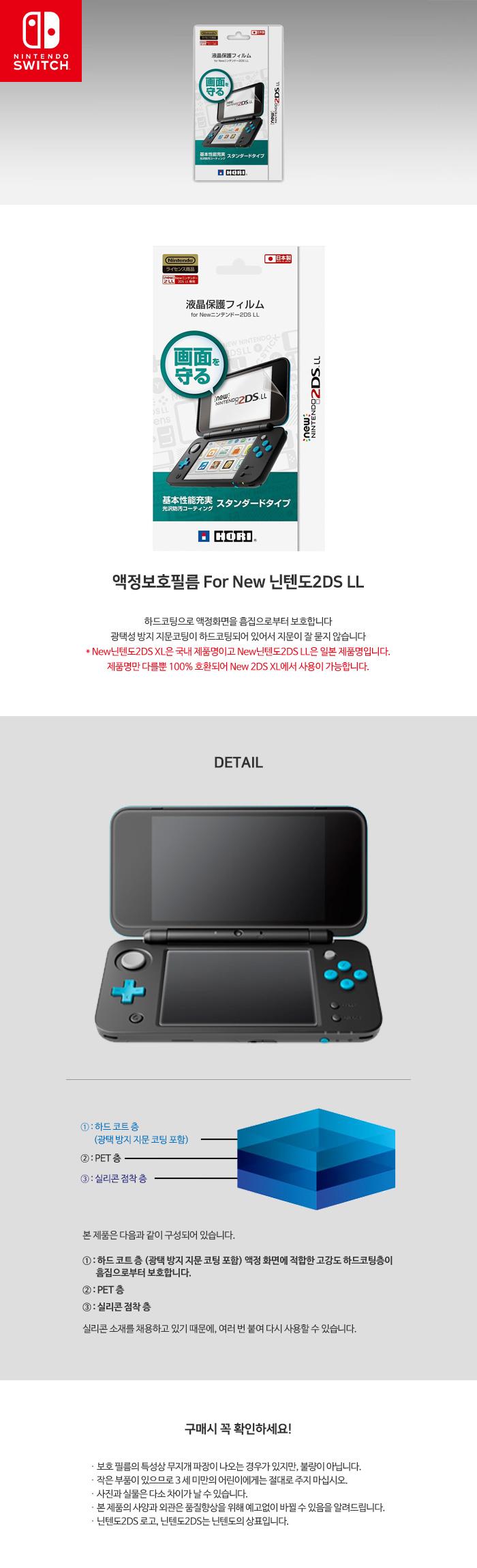 액정보호필름 For New 닌텐도2DS LL 상세페이지